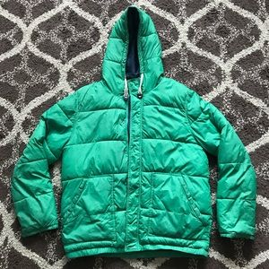 Divided by H&M Green/Blue Puffer Coat XL